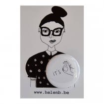 Badge It's ok - helen B