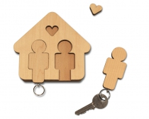 Porte clefs mural Home sweet home - H/H