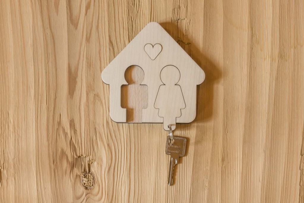 Porte clefs mural Home sweet home -  H/F