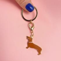 Porte-clés/Médaille Teckel - Coucou Suzette