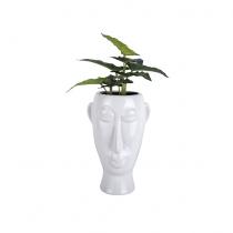 Pot à fleurs masque long blanc - Present Time