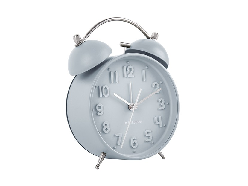 reveil iconic present time classique retro bleu