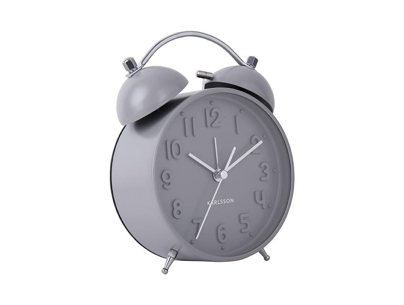 reveil iconic present time classique retro gris