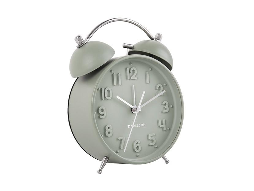 reveil iconic present time classique retro vert