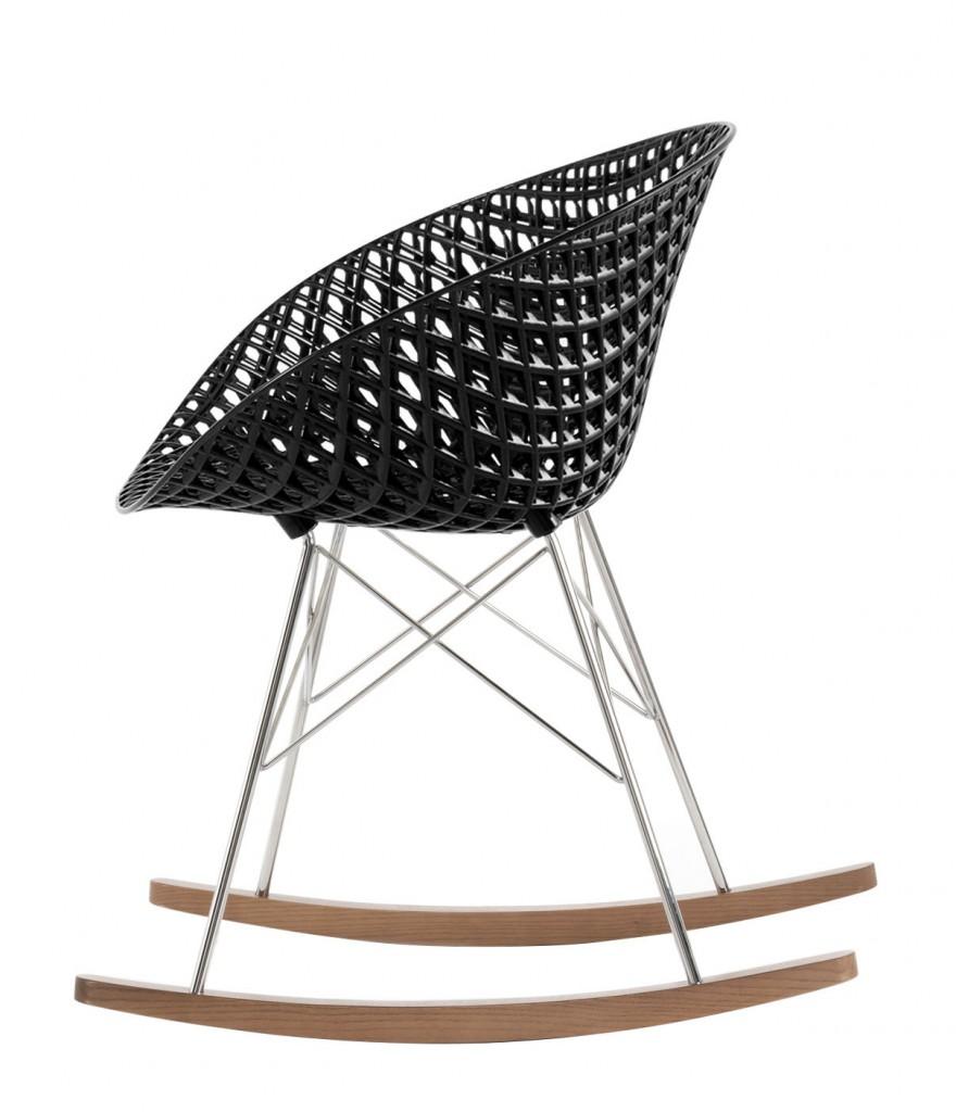 Rocking chair Matrix - Kartell - Noir