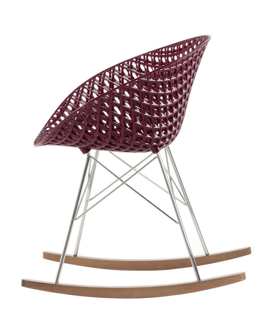 Rocking chair Matrix - Kartell - Prune
