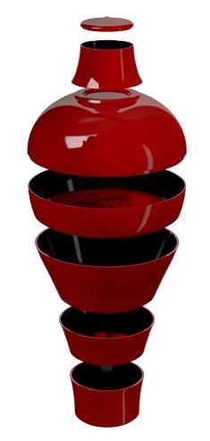 Service de table Ming - Rouge - Ibride