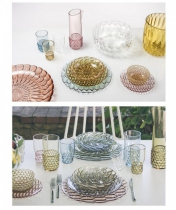 SET DE 4 ASSIETTES Ø27 JELLIES - Cristal