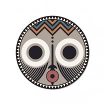 set de table masque africain asaro peau de vache