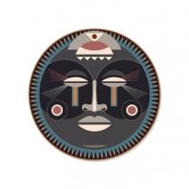 Set de table rond Massai 132 - Podevache