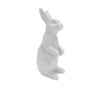 Statue origami Lapin debout - Present time