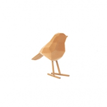 Statue origami Le petit Oiseau floqué - Present time