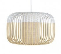 SUSPENSION BAMBOO LIGHT S FORESTIER blanche bambou