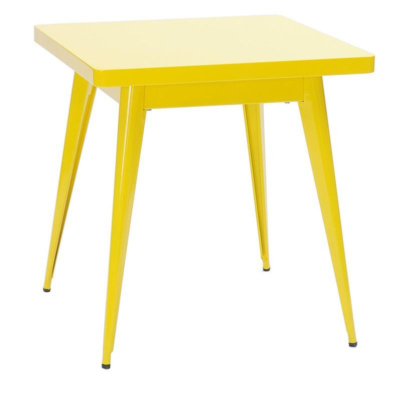 Table 55 70*70 - Laquée brillante - Tolix - Citron