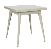 Table 55 70*70 - Mat - Tolix - Gris soie