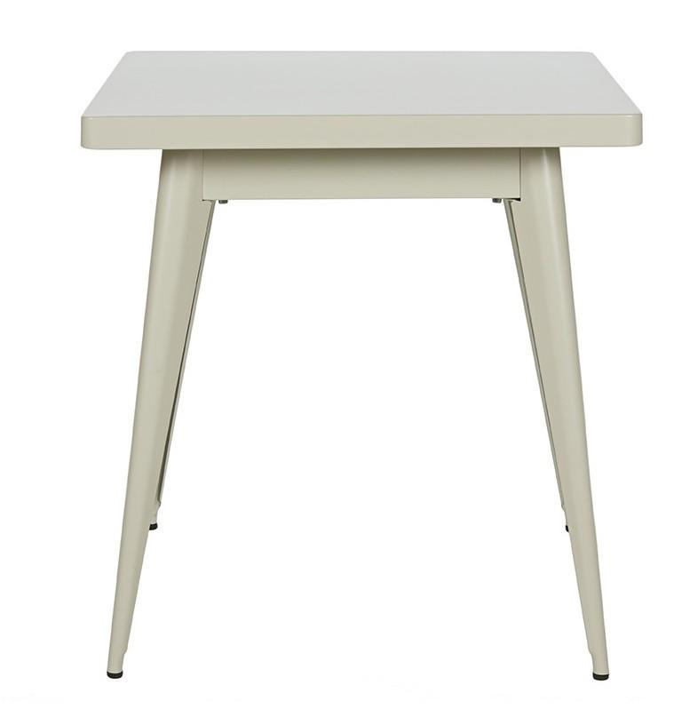 Table 55 70*70 - Mat - Tolix - Gris soie