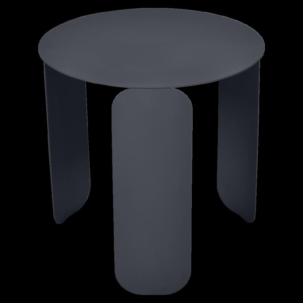 Table basse Bebop Ø45 - Fermob - Carbone