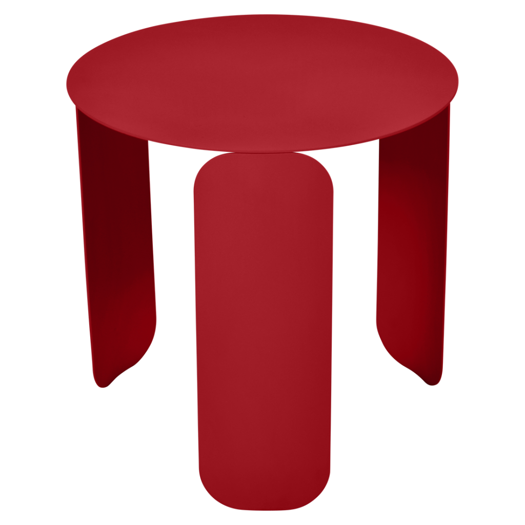 Table basse Bebop Ø45 - Fermob - Coquelicot
