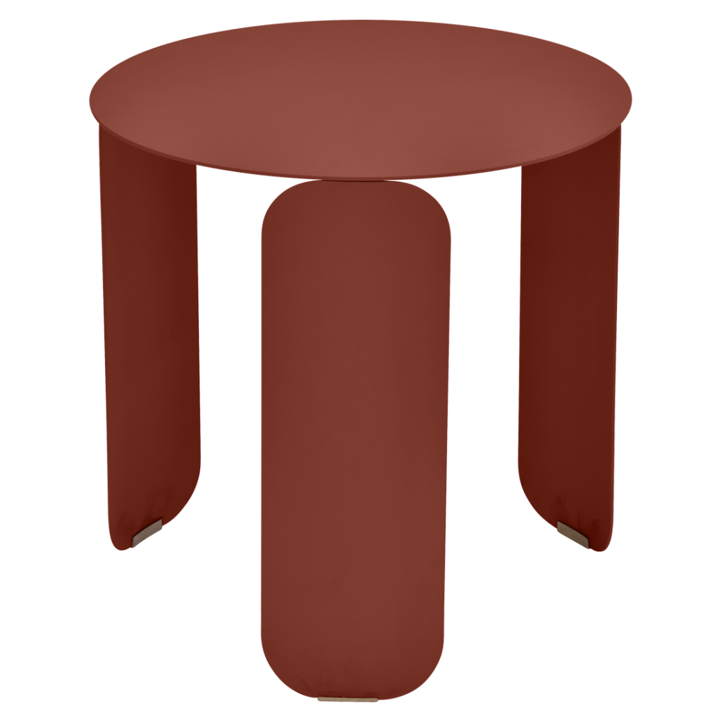 Table basse Bebop Ø45 - Fermob - Ocre rouge