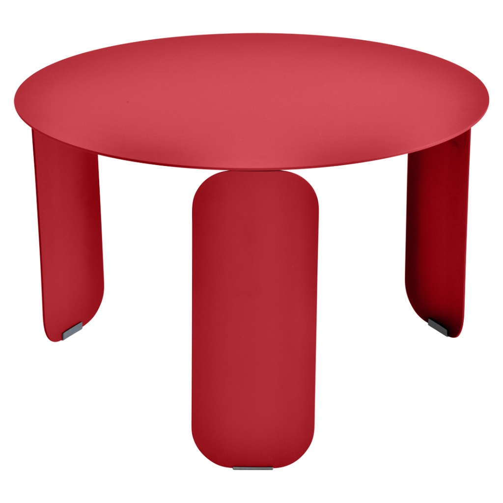 Table basse Bebop Ø60 - Fermob - Coquelicot