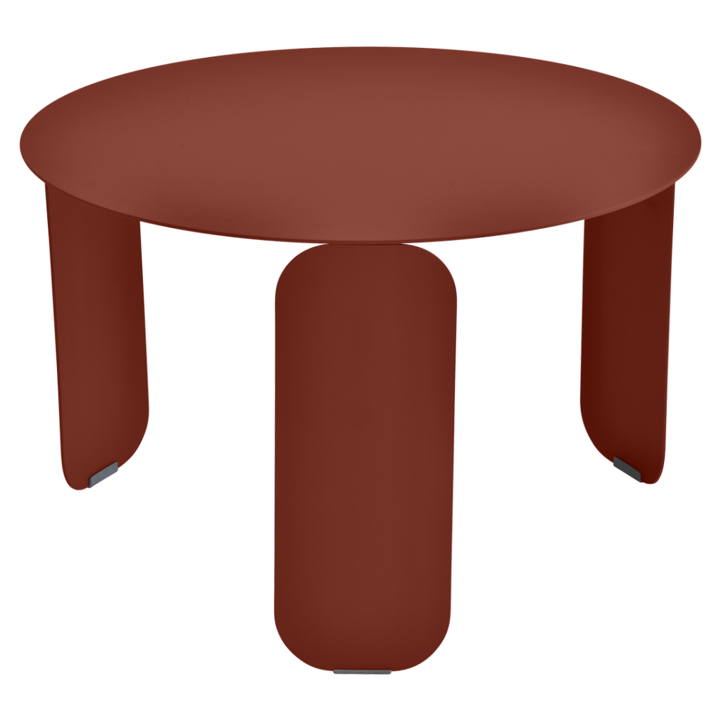 Table basse Bebop Ø60 - Fermob - Ocre rouge