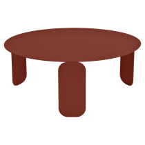 Table basse Bebop Ø80 - Fermob - Ocre rouge
