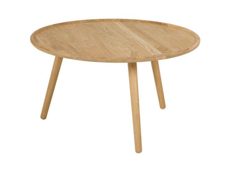 TABLE BASSE LOVE Ø80 - Chêne blanchi