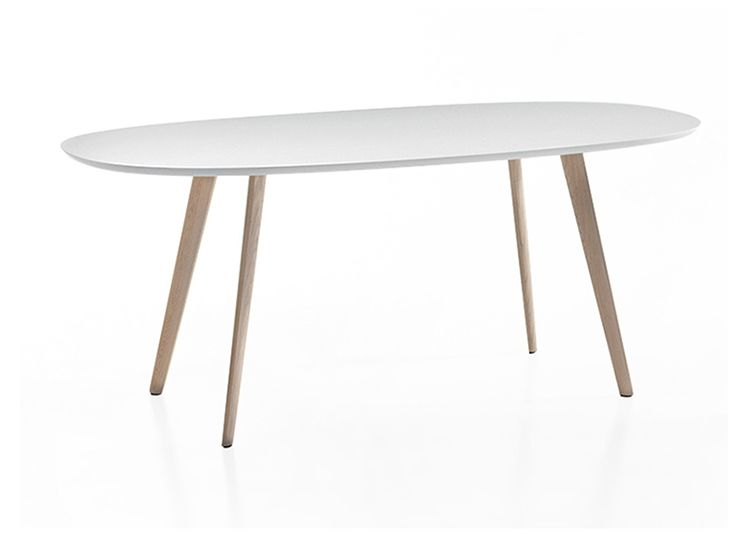 Table gher ovale 200 x 110 cm pieds ch ne clair for Plateau table ovale