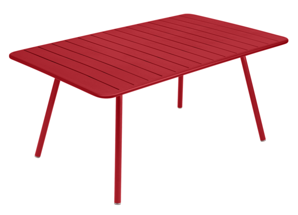Table Luxembourg - 165 x 100 - Fermob - Coquelicot