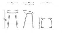 TABOURET ABOUT A STOOL AAS32 H64 - Blanc pieds verni mat