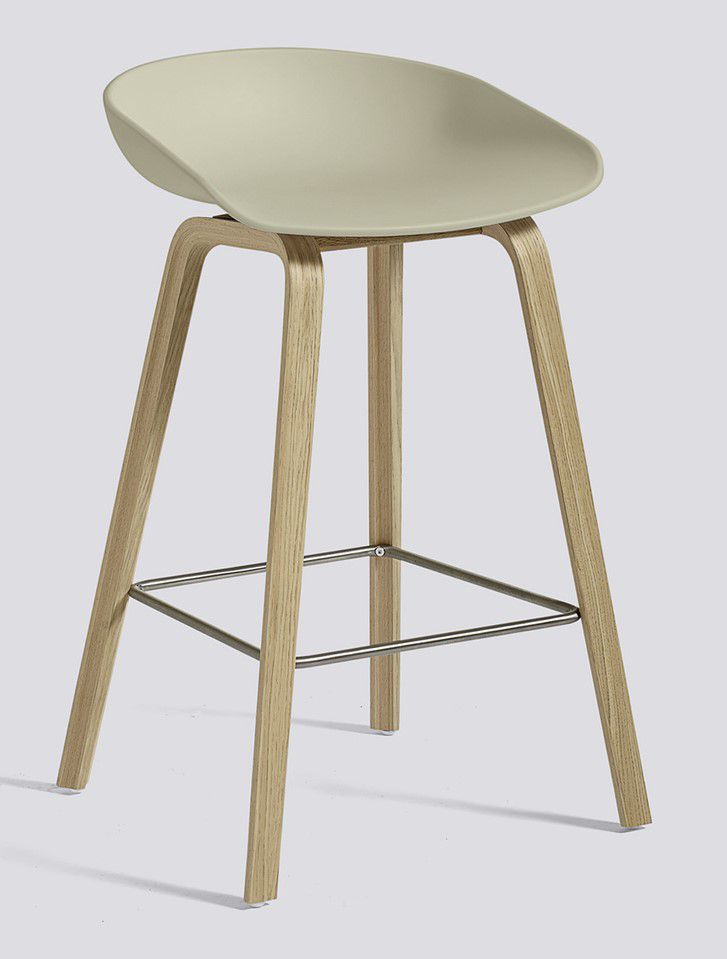TABOURET ABOUT A STOOL AAS32 H64 HAY OKXO ROUEN BEIGE