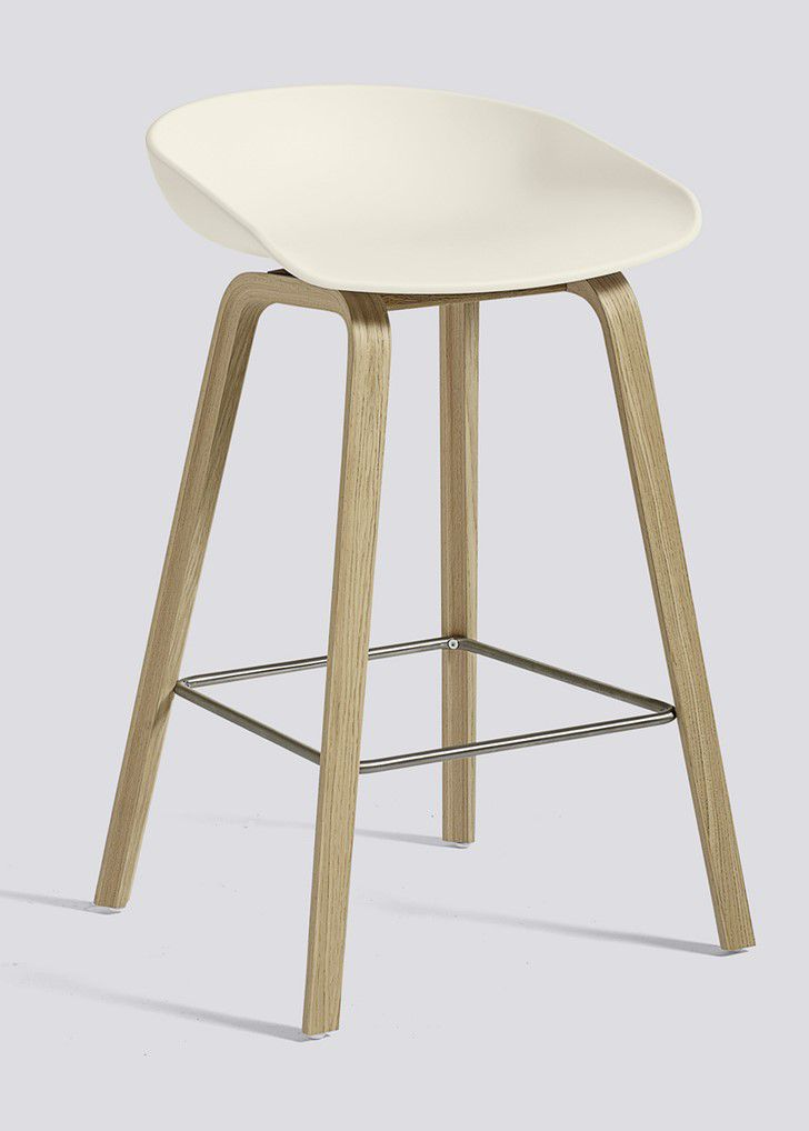TABOURET ABOUT A STOOL AAS32 H64 HAY OKXO ROUEN CREME