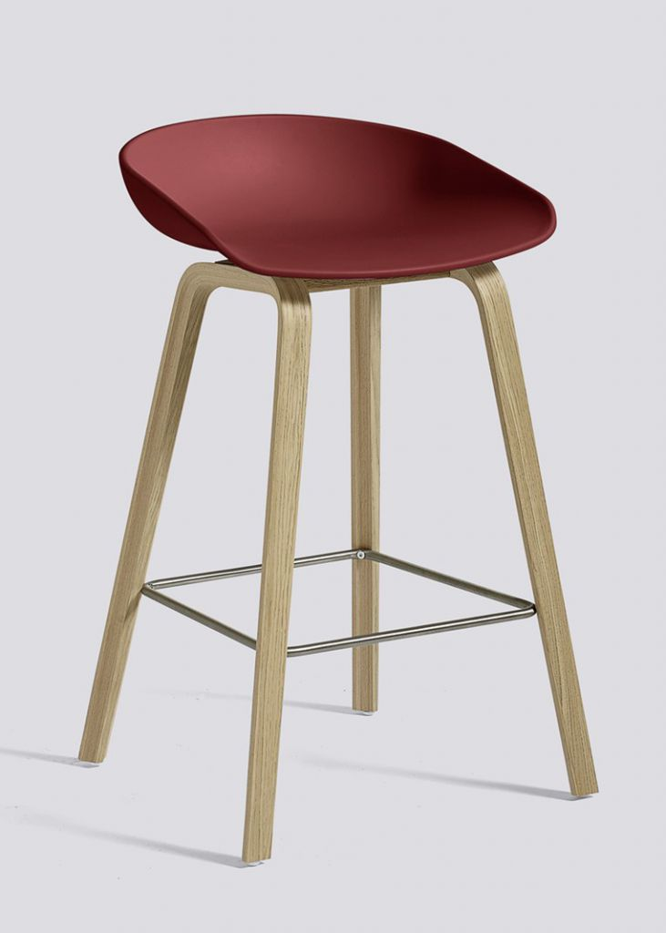 TABOURET ABOUT A STOOL AAS32 H64 HAY OKXO ROUEN ROUGE