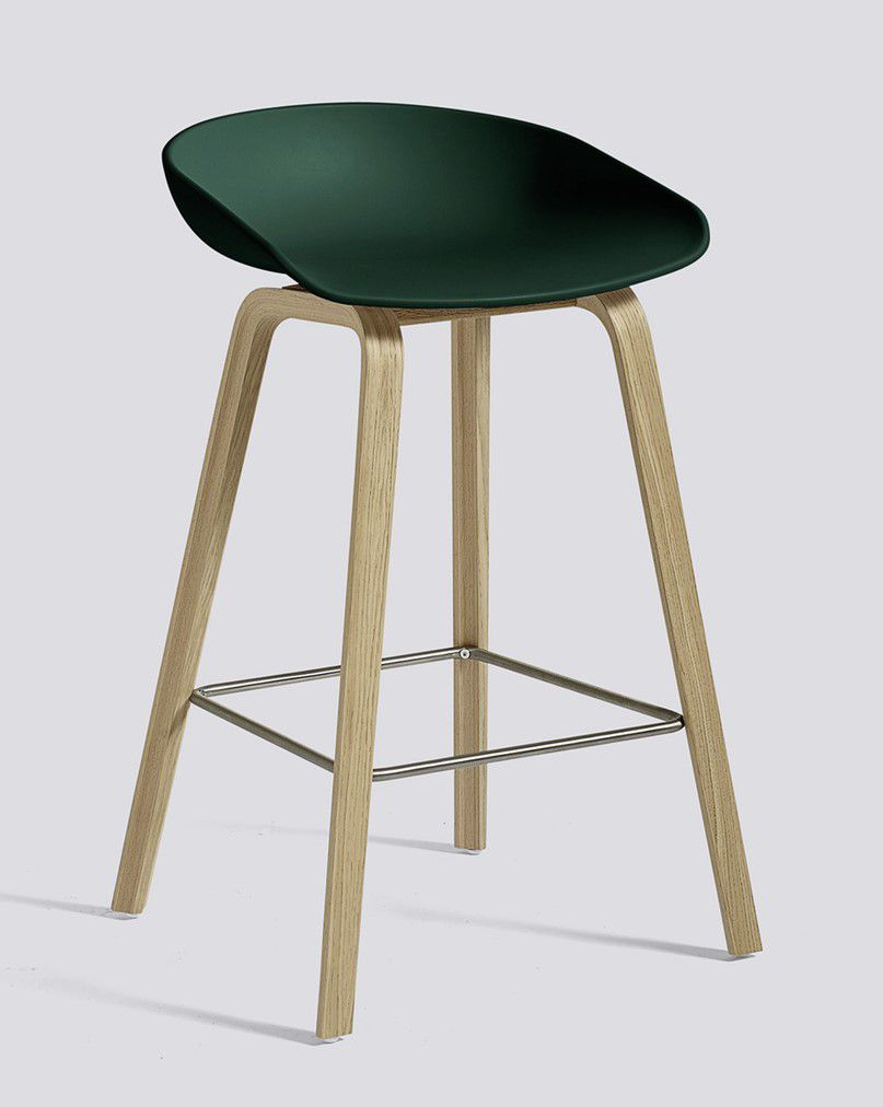 TABOURET ABOUT A STOOL AAS32 H64 HAY OKXO ROUEN VERT