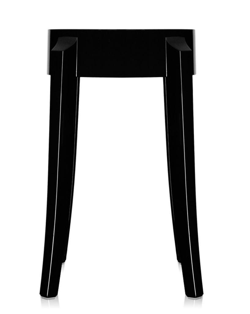Lot de 2 tabourets Charles Ghost H46 - Kartell - Noir brillant