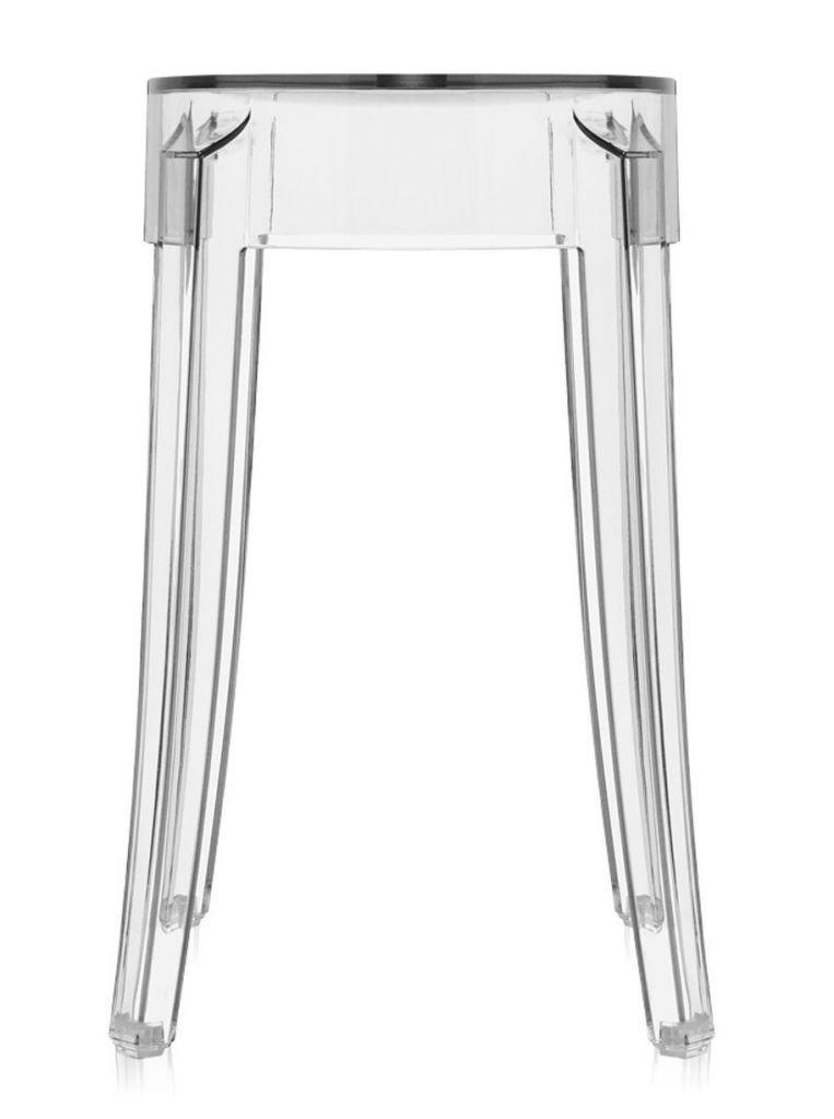 Lot de 2 tabourets Charles Ghost H46 - Kartell - Cristal