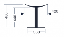 TABOURET COMA H45 - Anthracite texturé Ral 7016