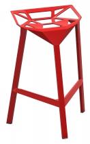 TABOURET DE BAR STOOL ONE H67 - Rouge