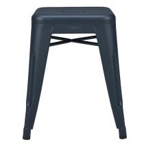 Tabouret H45 - Mat texturé - Tolix - Bleu nuit