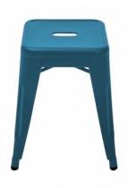 Tabouret H45 - Mat texturé - Tolix - Bleu ocean