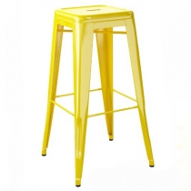 Tabouret H75 - Laqué brillant - Tolix - Jaune citron
