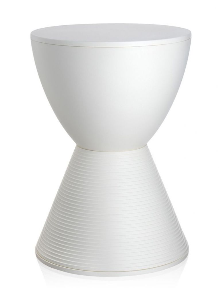 TABOURET PRINCE AHA KARTELL  - Blanc cire