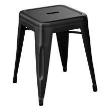 TABOURET TOLIX  H45 CM - Noir mat Ral 9005 mat