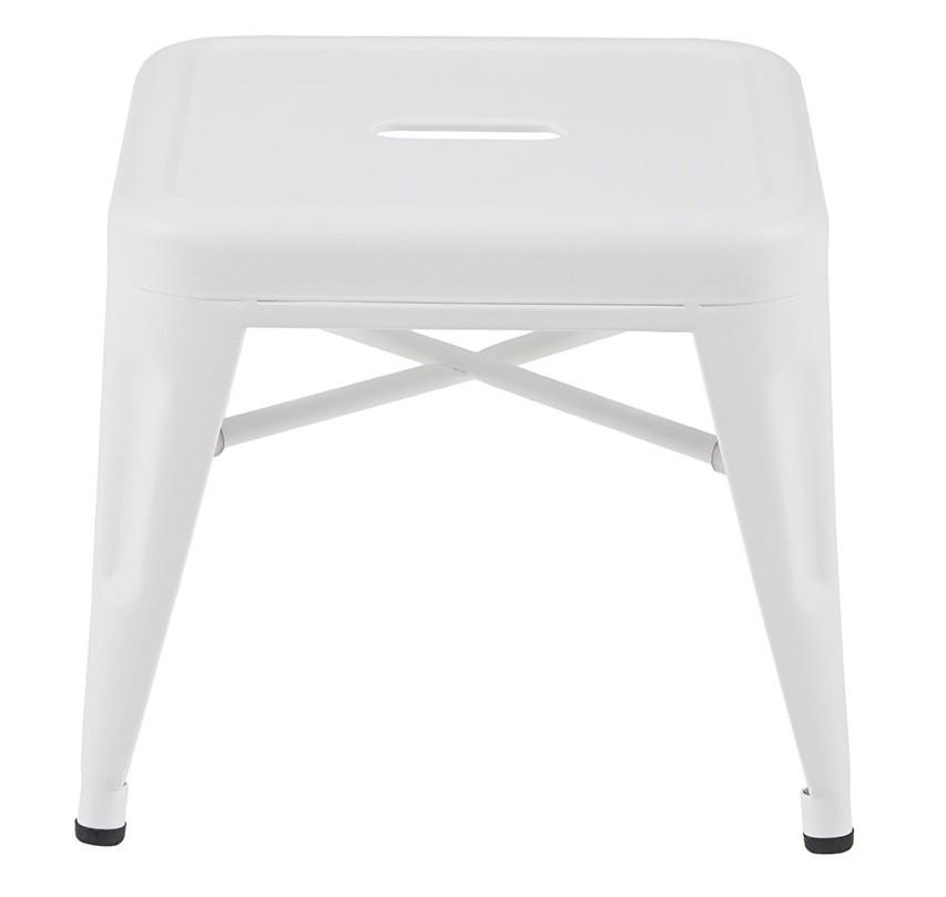 Tabouret H30 - Mat texturé - Tolix - Blanc