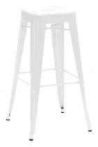 Tabouret H75 - Blanc brillant - Tolix - Blanc