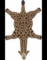 Tapis peau de bête Girafe laine