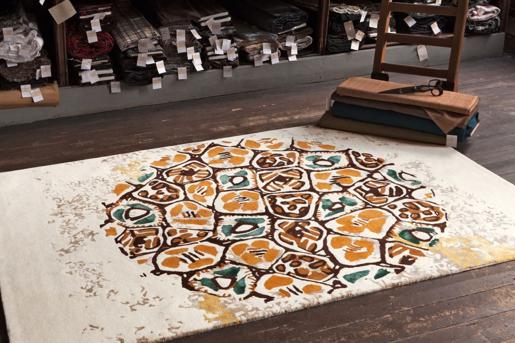 tapis mosaic ambre serge lesage. Black Bedroom Furniture Sets. Home Design Ideas