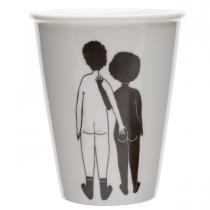 Tasse homme blanc femme noir nue - Helen B