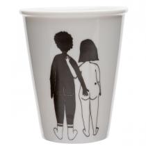 Tasse homme noir femme blanche nue - Helen B