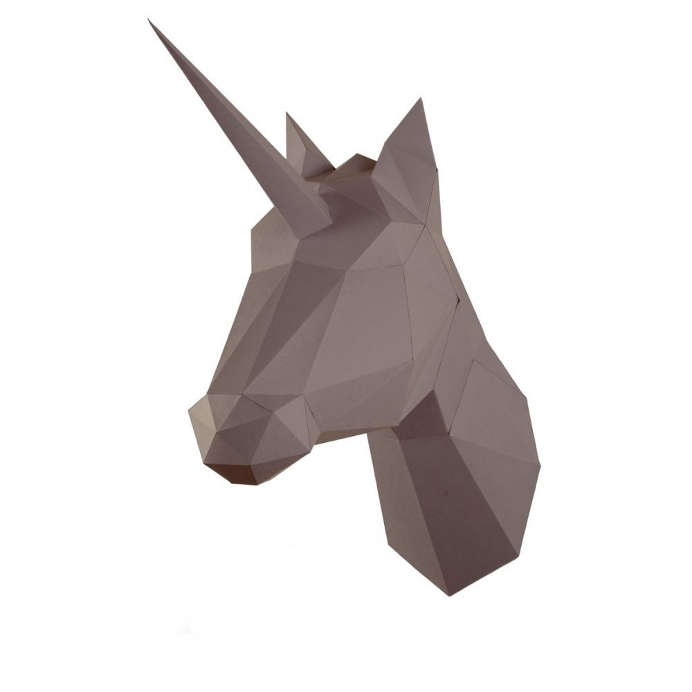 cheval en origami assembli marron. Black Bedroom Furniture Sets. Home Design Ideas